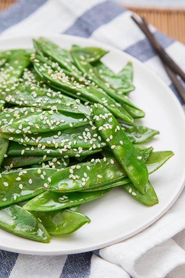 Quick Sesame Snow Peas