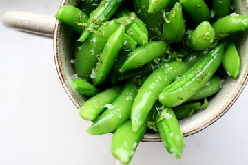 sugar snap peas mint
