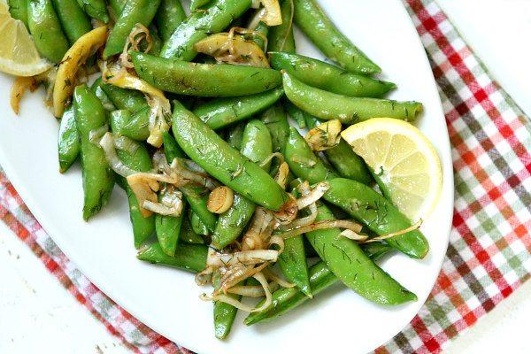 sugar snap peas elbefruit stir fried lemon recipe